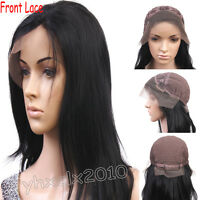India Remy Human Hair Front Lace Wig YAKI Straight Customize Accept ANY SIZE