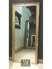 "Paris Gold Shabby Chic Leaner Antique Floor Mirror 65"" x 29"" (165cm x 74cm)"