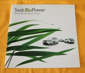 Saab BioPower 9-3  9-5 2009 Prospekt Brochure Catalogue Depliant Prospetto