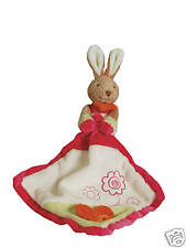 BRAND NEW baby safe soft plush toy RABBIT SECURITY DOUDOU COMFORTER blanket