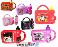 Kids Girls Disney Minnie Mouse 1D Hard Lunch Box Set with Water Drink Bottle