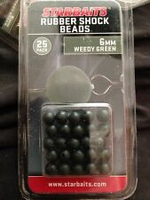 STARBAITS WEEDY GREEN 6mm RUBBER SHOCK BEADS Free P&P