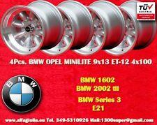 4 Cerchi BMW Volkswagen Minilite 9x13 ET-12 4x100 Wheels Felgen Llantas Jantes