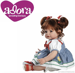 """NEW Adora Toddler Daisy Delight 20"""" Girl Weighted Doll Gift Set Toy for Children"""