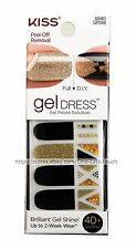 KISS*40 Nail Gel Dress ROYAL FLUSH Polish Solution Strip GOLD+BLACK Full+DIY 1/2