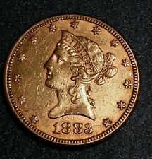 1883-P ☆Usa☆ $10 Liberty Head Gold Coin☆High Mint State☆ Low Mintage ☆ Gold Coin