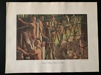 """Vintage 1968 """"Iroquois Villagers Prepare for the Attack"""" No. 780 Print"""