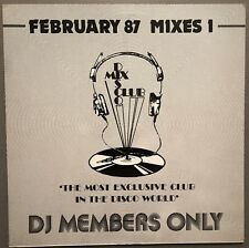 FEBRUARY 87 MIXES 1 DISCO MIX CLUB DMC DJ MEMBERS ONLY UK VINYL