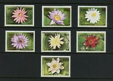 R504  Cambodia  1989  flora flowers water lilies   7v.  MNH