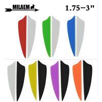 "36pcs 1.75"" 2"" 2.5"" 3"" Rubber Vanes Archery Arrow Fletching Shield DIY Feather"