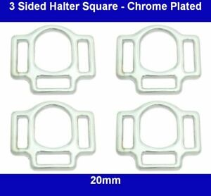3 Sided Halter Square - 20mm - Chrome Plated
