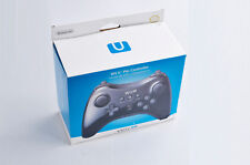 US Nintendo Wii U Pro Black Wireless Controller & Charge Cord