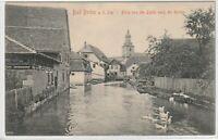 Ansichtskarte Bad Berka an der Ilm - Blick von der Linde zur Kirche 1908 - s/w