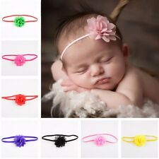 10Pcs Newborn Baby Kids Girls Toddler Chiffon Flower Hair band Headband Headwear