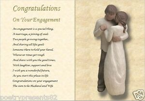 CONGRATULATIONS ON YOUR ENGAGEMENT, personalised poem (ENGAGEMENT GIFT)