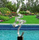 Silver Abstract Metal INDOOR/OUTDOOR Sculpture ULTRA MODERN Original Jon Allen