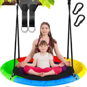 Ø100cm Nestschaukel bis 300kg für Mehrere Kinder Tellerschaukel Gartenschaukel