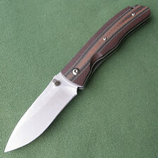 Sanrenmu SRM 9055MUC-GHJL non-lock pocket knife Micarta Handle Folding Knife