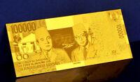 "★★ INDONESIE / INDONESIA : BILLET POLYMER  "" OR "" DU 100000 RUPIAH 1999 ★"