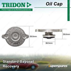 Tridon Recovery Radiator Cap Standard Bayonet 38.5mm for Dodge Nitro KA