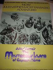 MYSTERIOUS ISLAND OF CAPTAIN NEMO original 1974 Jules Verne Omar Sharif rolled