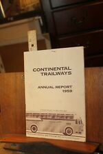 Vintage 1959 Continental Trailways Company Annual Report