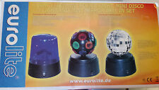 Set mit 3 kleinen LICHTEFFEKTEN batteriebetrieben DREHLICHT, UFO+SPIEGEL-Kugel,