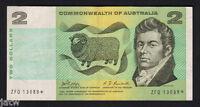 Australia R-83 S. (1968) 2 Dollars.. Phillips/Randall - STAR Note.. Prefix ZFQ