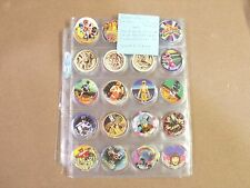 POGS POWER RANGERS 1994 UNIVERSAL FLIP CAPS ASSOC.100+ DIFFERENT  HARD TO FIND
