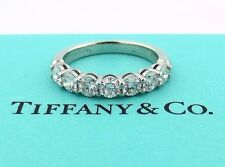 TIFFANY & CO PLATINUM SHARED SETTING .91CT .93 DIAMOND 3.5MM BAND 4.5 W/ PAPERS
