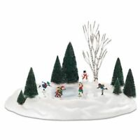 Dept56 New Animated Skating Pond