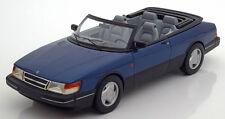 1987 Saab 900 S Convertible Azul Met por Bos Modelos Le de 1000 1/18 Escala