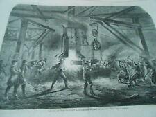 Gravure 1862 - Usine Pétin et Gaudet à Rive de Gier Forge pour la marine