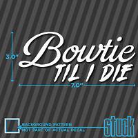 Bowtie till I die Chevy Chevrolet Camaro SS car truck window sticker decal #043