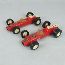 VINTAGE HASBRO Plastic Red Race Car Toy Model Lot of 2