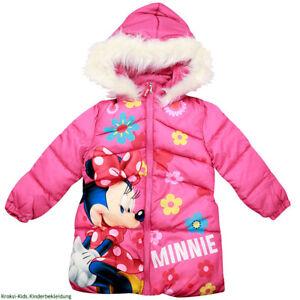 Minnie Mouse Jacke Mantel Mädchen Winter Rosa Winterjacke Kapuze 98-128