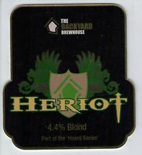 BACKYARD BREWHOUSE (WALSALL) - HERIOT BLOND - PUMP CLIP FRONT