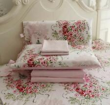 FADFAY Rose Floral 4 Piece Bed Sheet Set 100% Cotton Deep Pocket-King