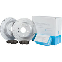 [REAR KIT] Disc Brake Rotors & Ceramic Pads for Nissan Altima Juke Maxima Sentra