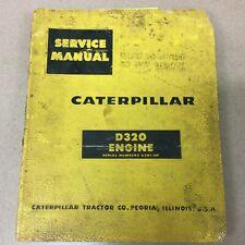 Cat Caterpillar D320 Service Shop Repair Manual Engine Diesel Guide Book Sn 63b