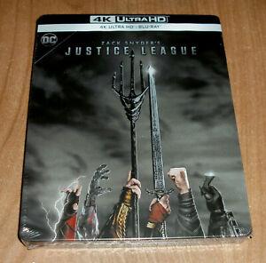 League Of Justice Zack Snyder 4K Ultra HD + Blu-Ray Steelbook New Sleeveless