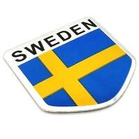 Aufkleber Schweden Logo Emblem Metall selbstklebend Auto Aufkleber Wappen Land