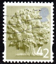 2003 England Sg EN10 42p Olive-Green and Silver Very Fine Used