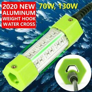 70W 130W 12VGreen White IP68 LED Squid Lure Submersible Underwater Fishing Light