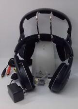 Sennheiser RS 120 RS120 Wireless RF 2 Headphone Set w/ Charging Dock - Black