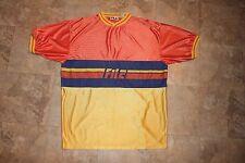 Mens XXL Vintage 90's FILA Multi-Colo JERSEY Shirt Hip Hop Old Skool