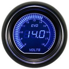 """2"""" 52mm Volt Voltage Gauge Red/Blue LED Digital Display Universal Car Meter 12V"""