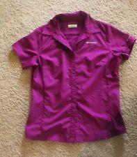 Columbia Omni-Shade Hiking Shirt Women's Medium Purple Short-Sleeved Quick Dry