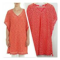 [ BLUE ILLUSION ] Womens Embroidered Kaftan /  Top | Size M or AU 12