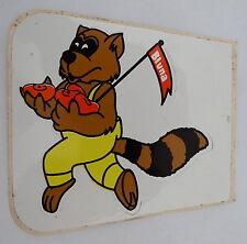 Aufkleber BLUNA Limonade 70er Jahre Waschbär Sticker Afri Cola Köln